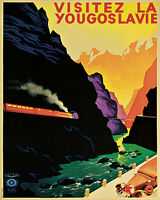Yugoslavia Europe Travel 16x20 Vintage Poster Shipped Rolled Repro Free S/h Usa