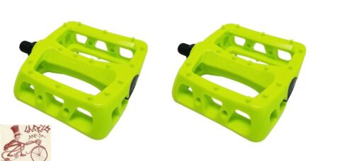 """ODYSSEY TWISTED PC NYLON FLOURESCENT YELLOW 1//2/"""" BICYCLE PEDALS"""