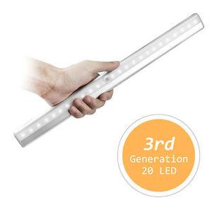 20-LED-Detecteur-de-Mouvement-PIR-Sans-fil-Clair-Tiroir-Placard-Armoire-escalier