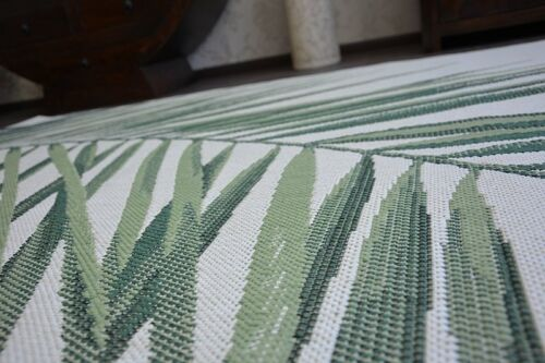 EASY TO CLEAN SISAL RUG green leaf /'COLOR/' PRACTICAL hard-wearing and durable