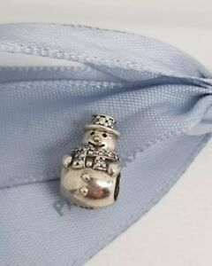 Authentic Pandora Sterling Silver Snowman Christmas Charm ...