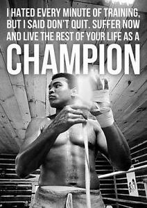 Exceptionnel Image Is Loading MUHAMMAD ALI CHAMPION QUOTE Boxing Gym Wall Art