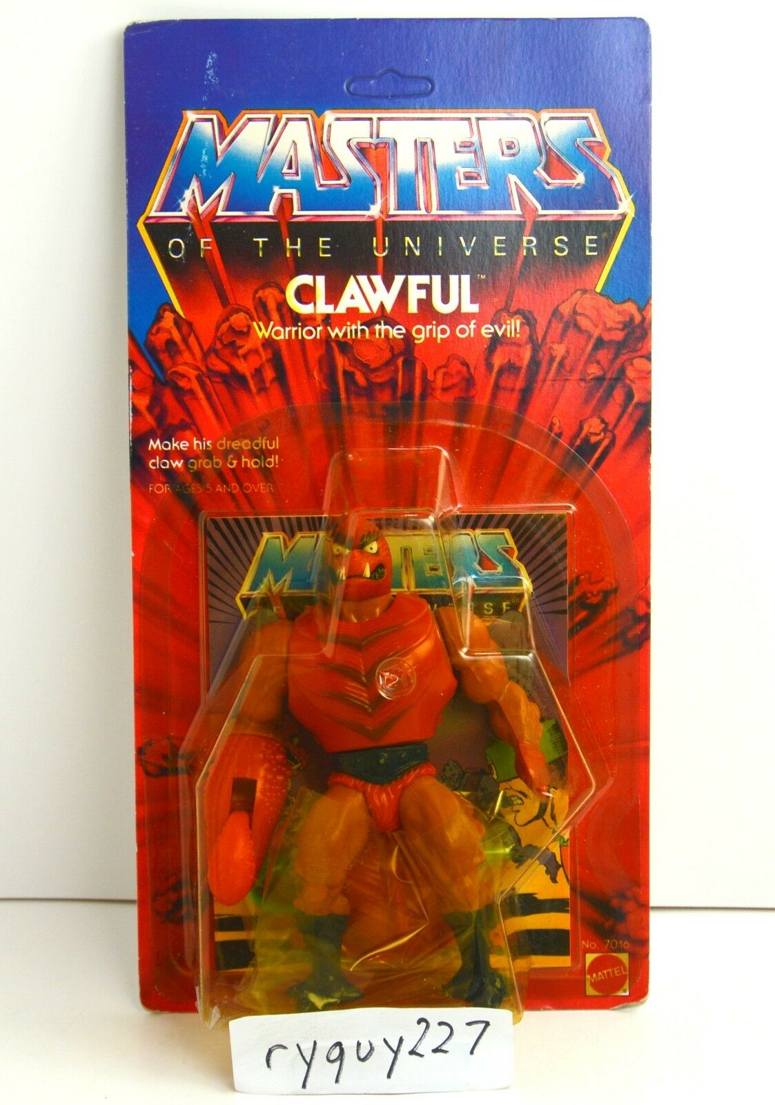 MOTU, Clawful, Masters of the Universe, MOC, carded, sealed, figure, He-Man