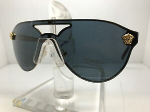 9594f8b7b8cf Image is loading Authentic-VERSACE-SUNGLASSES-VE2161-100287-GOLD-GRAY