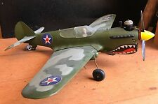 Vintage P-40 Flying Tiger Cox Thimble-Drome Control Line Airplane tiger shark
