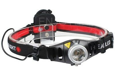 NEW Adjustable Focus 500 Lumen Q5 LED Zoomable Headlamp Headlight Head Torch UK
