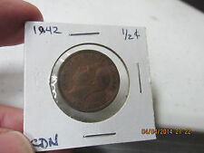 1841 & 1942 Great Britain Half Pennies from Old Timer's Collection