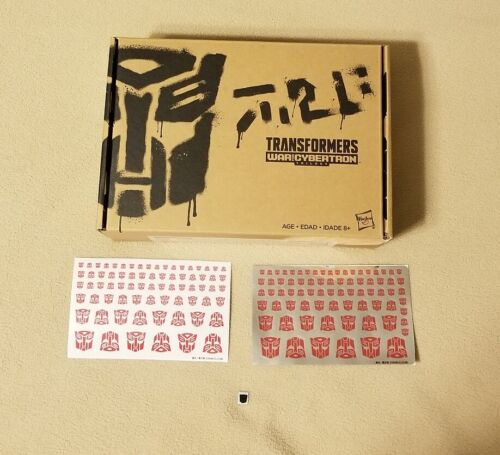 Transformers Generations Select Lancer SDCC Exclusive 2019 Symbol Logo Stickers