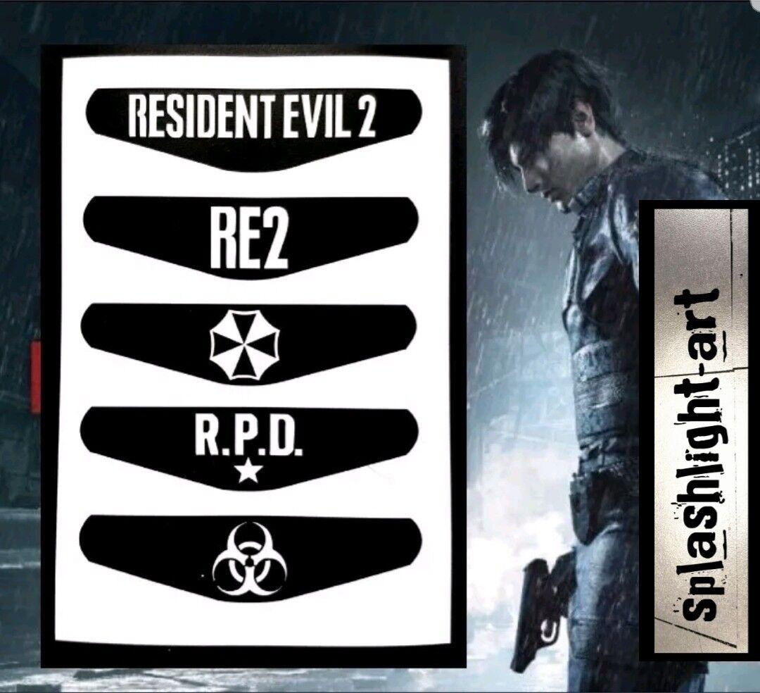 RESIDENT EVIL 2 PS4 Controller Light bar 5x Vinyl Decal Sticker playstation 4