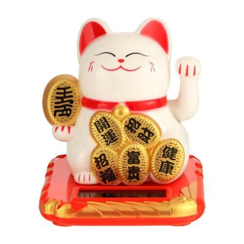 Lucky Cat Glückliche Katze Maneki Wealth Winken Hand Fortune Auto Hotel Dekor