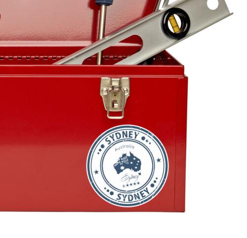 2 x Autocollant Vinyle Sydney Australie étiquette de bagage Voyage Cadeau Tag Carte Drapeau # 4571