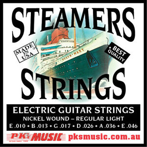 STEAMERS-REGULAR-LIGHT-10-46-GAUGE-STRINGS-MADE-in-USA-NEW-FREE-POSTAGE