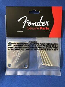 NEW-Fender-70-Vintage-Strat-034-F-034-Neckplate-W-4-Screws-Original-Fender-Part