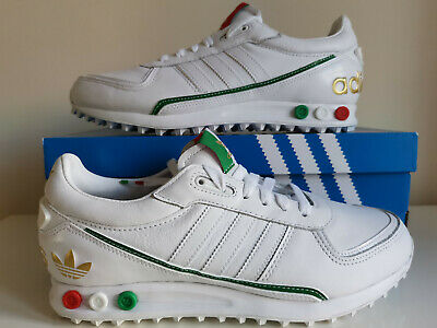 Propuesta alternativa Caballo Plata  Adidas Originals LA Los Angeles Trainers - White / Green Leather Premium  Shoes | eBay