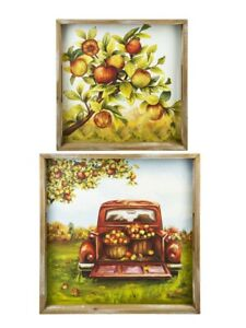 Ganz-H9-Thanksgiving-Nesting-Wooden-Serving-Trays-Fall-Orchard-Apples-2pc-Set