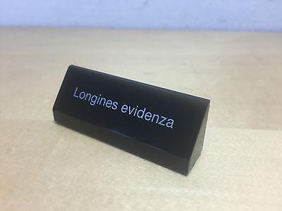 Effizient Schild Plakette Longines - Evidenza - Black Schwarz - For Collectors