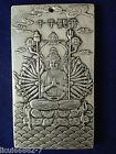 Old Chinese tibet Silver Thousand-hand Bodhisattva Bullion thanka amulet thangka