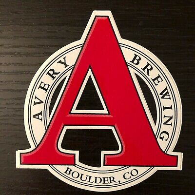 AVERY BREWING brewery full LOGO STICKER decal craft beer BOULDER