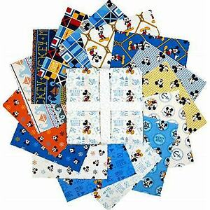 Disney-Mickey-Mouse-Oh-Boy-by-Camelot-Fabrics-42-10-034-Squares-Layer-Cake