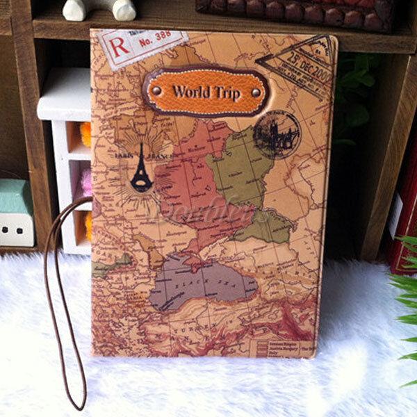 Travel World Passport Holder Ticket Document Protector Cover Case Bag  Wallet H1