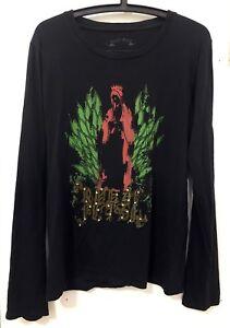 2aad77b8c8 Details about Royal Flash Men's Long Sleeve T-shirt with studs, Black,  Medium_Saint Laurent
