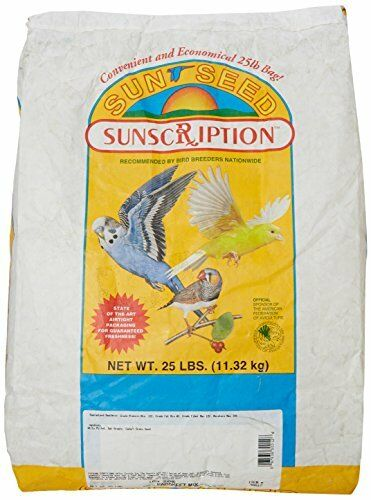 Sun Seed Company BSS30012 Economical Mix Parakeet Food 25-Pound