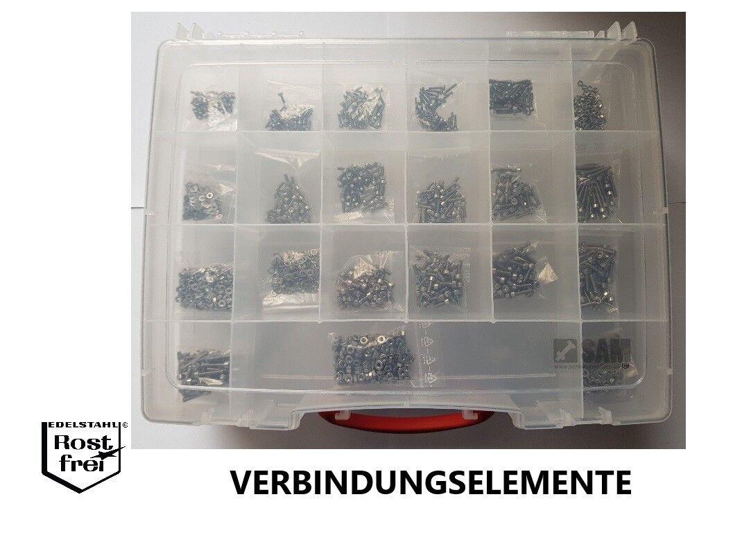 Esagono interno Viti assortimento 2.700 Pezzi DIN 912 ACCIAIO INOX a2 m2-m6