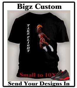 84609544877a Tee Shirt to Match Retro Air Jordan Bred 13 Shoe Take Flight Graphic ...