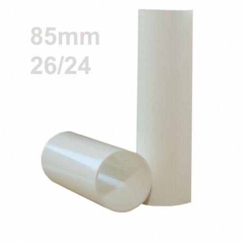 weiß glatt Kerzenhülse 26//24 für E14 Kerzenfassung 85mm