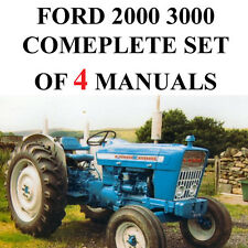 Ford 2000 & 3000 Series Tractor SERVICE PARTS Catalog OWNERS Manual 4 Manuals CD