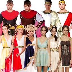 ADULT ROMAN GREEK GLADIATOR GODDESS ATHENA LADIES MENS FANCY DRESS COSTUME