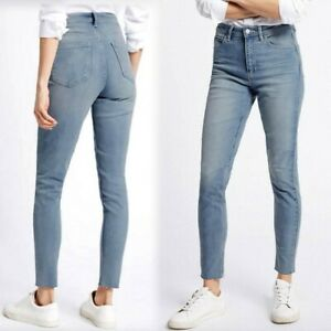 New Marks /& Spencer Medium Indigo Frayed Hem Super Skinny Jeans Size 18 Reg