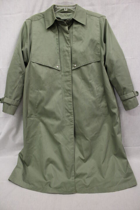 LORD & TAYLOR Olive Green Trenchcoat, Cotton Blend, W Removable Liner,Sz 10P-B17