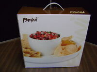 Parini Dual Use Cake Serving Chip And Dip Plate