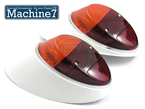 Classic VW Beetle Rear Lights Complete Bug 1961-67 /& 1200 Indicator Type-1 Pair