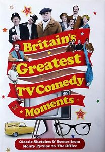 Britain-039-s-Greatest-TV-Comedy-Moments-by-Louis-Barfe-FREE-AUS-POST-used-hardback