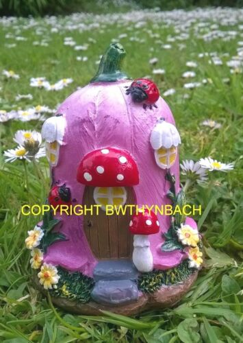Nuevo Diseño de goma de látex Molde Molde Pequeño Hada Fairie Tulipán Cottage House #2