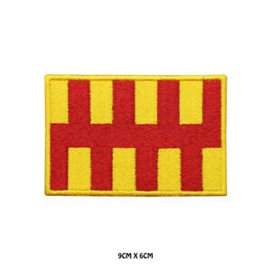 NORTHUMBERLAN County Flag Embroidered Patch Iron on Sew On Badge For Clothes Etc