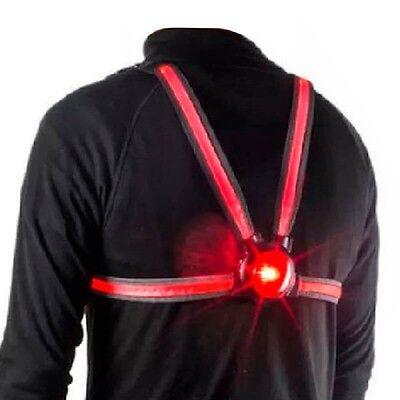 70 lumens Veglo Commuter X4 Wearable fibre optic rear light rechargeable USB