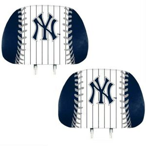 New-York-Yankees-2-Pack-Color-Print-Auto-Car-Truck-Headrest-Covers