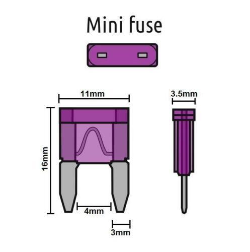 Rechange 10x Mini lame fusibles 10 AMP Pour Loisirs Véhicule Caravane Camping-car