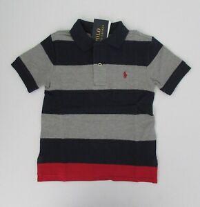 NWT-Ralph-Lauren-Boys-Short-Sleeve-Navy-Bold-Stripe-Mesh-Polo-Shirt-Sz-6-NEW-35
