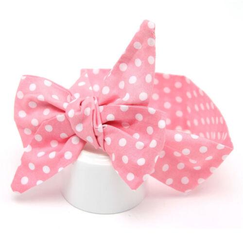 Cute Baby Head Wrap Polka Dot Ribbon Bow Knot Headwear Filles Cheveux Accessoires
