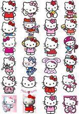 65 Mixed Hello Kitty Small Sticky White Paper Stickers Labels New