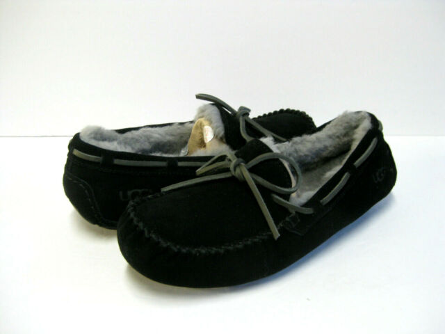 UGG OLSEN MEN SLIPPERS SUEDE BLACK US 13 /UK 12 /EU 46