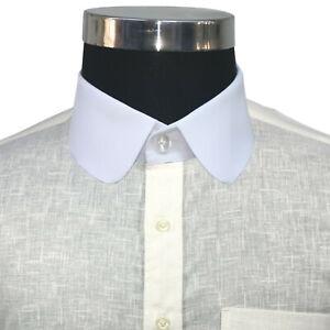 Cavani Men/'s Penny Round Collar White Formal Peaky Blinders Shirt