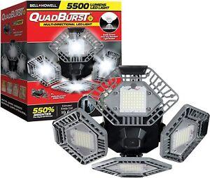 Bell + Howell Quadburst 5500 Lumens Garage Light w/ 4 Multi Directional Panels