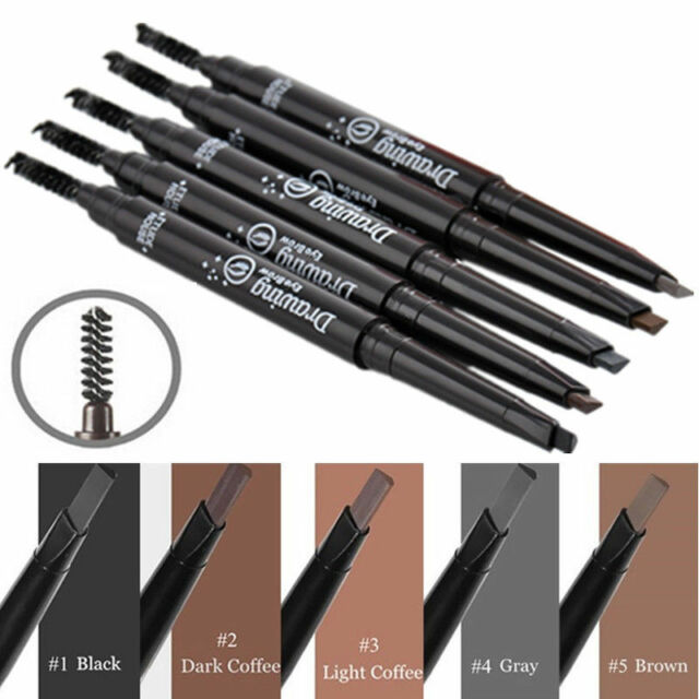 Waterproof Makeup Eye Brow Pen Eyebrow Liner Pencil With Brush Cosmetic Tool KY