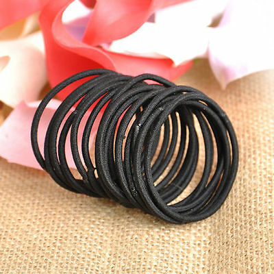 5/12/24/50 Pcs Women Girl Elastic Hair Circle Tie Band Rope Ring Ponytail Holder