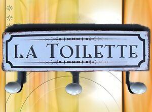 Haken in Toilette